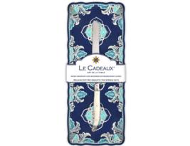 Le Cadeaux Havana Melamine Baguette Tray and Laguiole Bread Knife Gift S... - $28.71