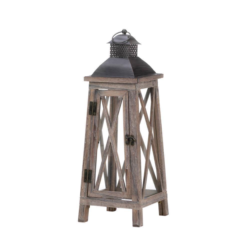 Watchtower Wood Candle Lantern