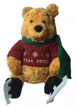 Disney Store Winnie The Pooh Ice Skater & Scarf Plush Stuffed Animal 200... - $18.11