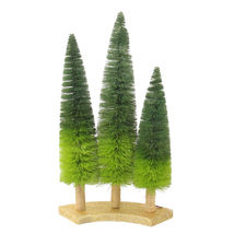 "3 Ombre Green Sisal Christmas Trees Table Top Decoration 15.75"" - tkchri... - $49.95"