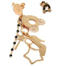 Drop Earrings 925 Silver, Carriage, Shoe, Magic Wand, le Favole image 1