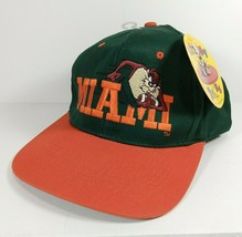 Looney Tunes Miami Hurricanes Taz Tasmanian Devil Youth Snapback Hat NEW - $22.27