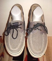 Sperry Top-Sider Slate Gray Canvas Classic Casual Cool Boat Shoe Sz 11 E... - $24.26