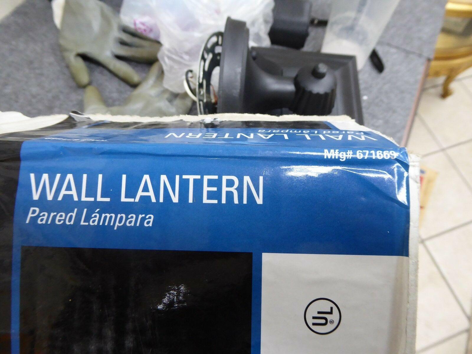 National Brand 671669 Alternative Wall Lantern Black Wall Porch Light