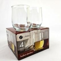 LIBBEY Stemless Traditional Wine Glasses- 16.8 oz. (4 Piece) Set NIB - $24.65