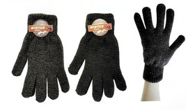 Mens Knit Winter Gloves 2-Pack (Medium-Large) - $7.91