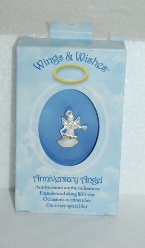 DM Merchandising Wings Wishes Silver Colored Anniversary Angel