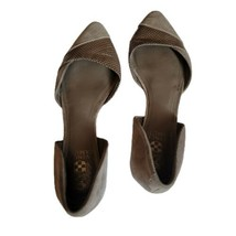 Vince Camuto Krissy Flats Size 8 B Taupe Pointed Toe Sandals - $21.99
