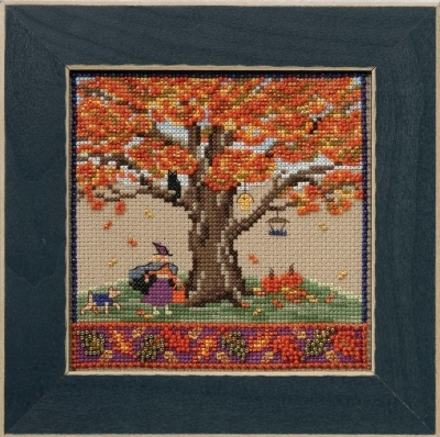 Fall Oak 2017 Quartet Mighty Oak tree series cross stitch kit  Mill Hill