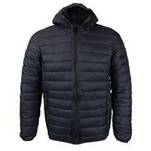 Maximos USA Mens Insulated Packable Hooded Puffer Jacket (Large, Black)