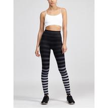 K-Deer Women's Black/Grey Jody Stripe Full Length Leggings, XS-4X image 2