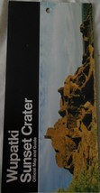Wupatki Sunset Crater Official Map & Guide  1988 - $3.99