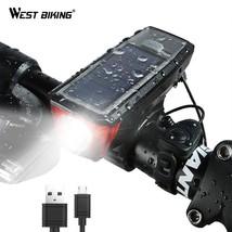WEST BIKING Solar Power Bike Light Waterproof 350 Lumen Bicycle Bell Lig... - €26,58 EUR