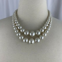 Faux Pearl Multi Strand Necklace Vintage Beaded Mid Century Japan Hook D... - £14.30 GBP