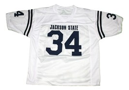 Walter Payton #34 Jackson State New Men Football Jersey White Any Size image 4