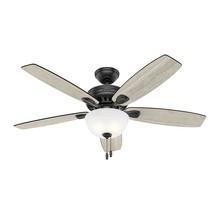 Hunter  52 in. LED Indoor Matte Black Ceiling Fan with Light Kit 50486 - $118.79