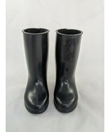 """Madame Alexander Doll Black Rubber Boots 3.5"""" Soles - $7.15"""