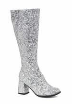 "Ellie 3"" Glitter Silver Gogo Dancer Womens Costume Heels Shoes Boots GOG... - €44,88 EUR"