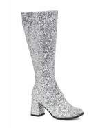 "Ellie 3"" Glitter Silver GOGO Dancer Womens Costume Heels Shoes Boots GOG... - $48.95"