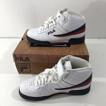 Fila F-13V LEA/SYN Men's Athletic Shoes White Navy Red Leather Size 6.5 - $29.69