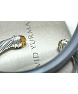 David Yurman 7mm Citrine & Diamond Crossover Cable Bangle Cuff Bracelet,... - $640.44