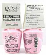 Harmony Gelish Soak Off- STRUCTURE GEL TRANSLUCENT PINK .5oz/15ml 2 Bottles - $28.70