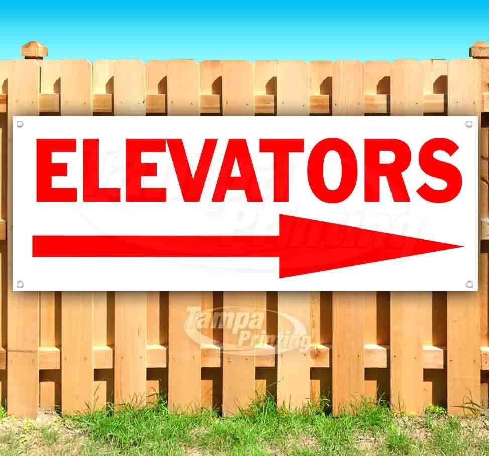 Primary image for ELEVATORS RIGHT ARROW Advertising Vinyl Banner Flag Sign Many Sizes DIRECTIONAL