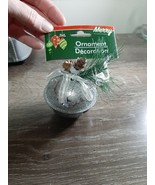Christmas Ornament Silver Bell. - $13.67