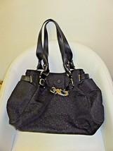 DKNY Black Fabric Large Shoulder Tote Bag Monogram Donna Karan New York - $66.66