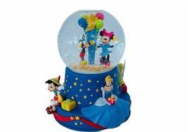 Disney Snow Globe Wish Upon Star snowglobe Mickey Pinocchio 101 Cinderel... - $145.08