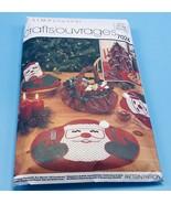 1980's Simplicity Christmas Place Mats Bun Warmer Basket Napkins Pattern... - $5.85