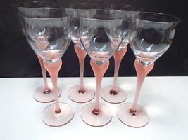6 Mikasa Sea Mist Coal Wine Stems ~~~ Nice - $49.95