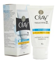 Olay Natural White Instant Glowing Fairness Cream Uv Protection 40gm - $9.89