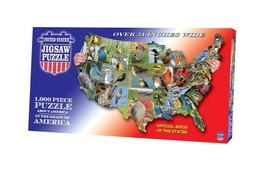 TDC games USA Shaped State - Birds Puzzle  Free  Shipping - $33.61