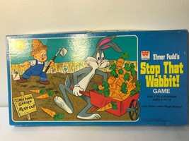 Vintage Elmer Fudds Stop That Wabbit Board Game Bugs Bunny Whitman 1975 ... - $35.00
