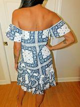 Cinq à Sept - Minella Off-The-Shoulder Scarf-Print Dress - Size 2 NWT image 3