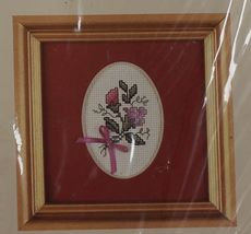 1990 Counted Cross Stitch Creative Circle Sweet Pea Mat & Kit Sue Hillis... - $14.99