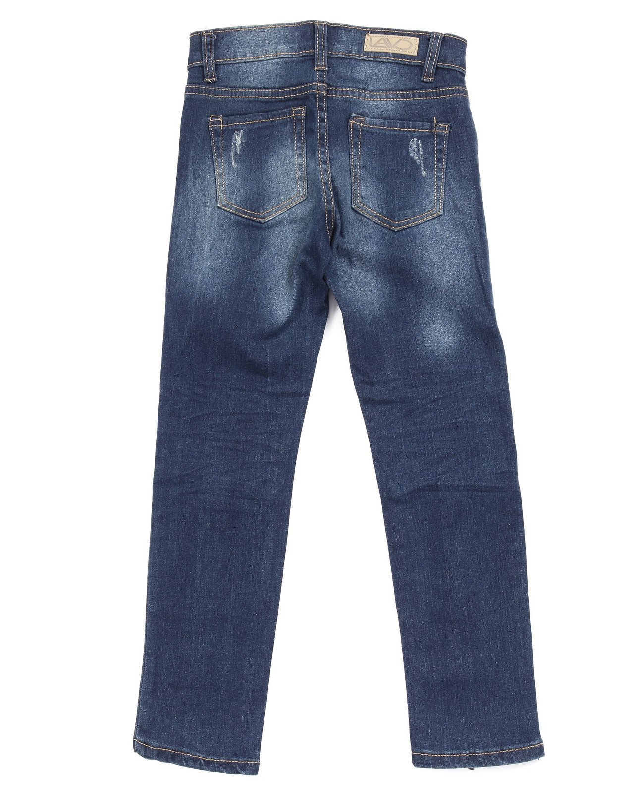 Girls ankle blue Jeans with zippers