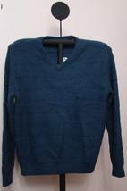 Nautica Mood Indigo Blue Men's V-Neck Colorblock Knit Sweater - Size Large - $49.95