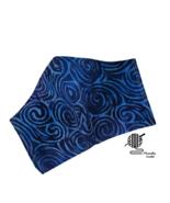 Face Mask Batik Dark Blue Facemask Cotton Womens Face Cover Handmade USA - $10.00