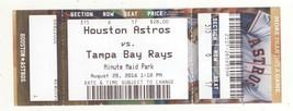 Tampa Bay @ Houston Astros 8/28/16 Ticket! Rays W 10-4 Jose Altuve HR - $3.36