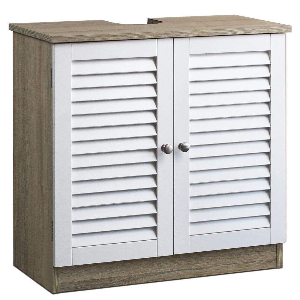 Primary image for Under Sink Cupboard Bathroom Cabinet Organise Storage Unit With Shutter Doors
