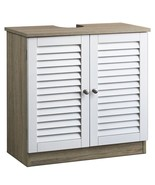 Under Sink Cupboard Bathroom Cabinet Organise Storage Unit With Shutter ... - $76.66