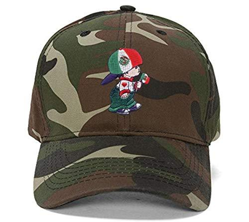 Mexico Boy - Flag Hat - Adjustable Camo Cap