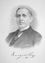 RUSSELL SAGE New York Financier Railroad President - 1895 Portrait Print - $8.82