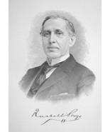RUSSELL SAGE New York Financier Railroad President - 1895 Portrait Print - $8.82