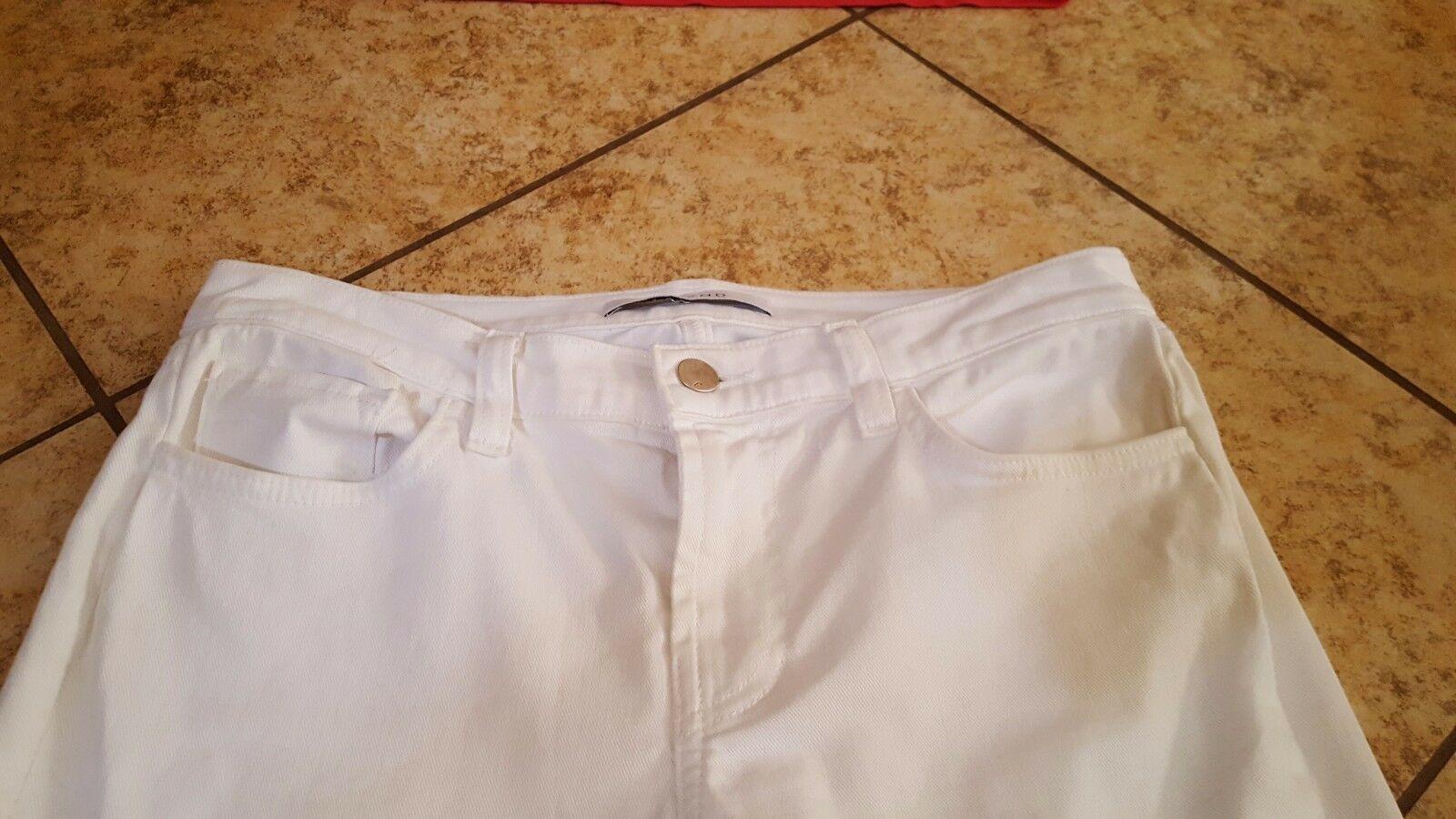J Brand Jeans Women's Cropped  White Jeans sz 25 Denim  NICE!! #333 image 2