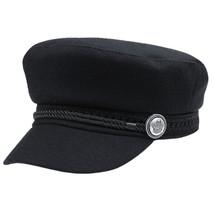 Women Wool Baseball Cap Button Winter Men Hat Octagonal Cap Sun Black Vi... - $10.42