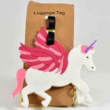 Flying Winged Unicorn Horned Pegasus Rubber Baggage Luggage Traveling Tag - $6.23