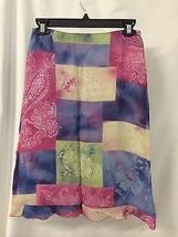 Vertigo Women's Skirt Multi Color Side Zip Skirt Made In France Size 4 NWT  - $57.92